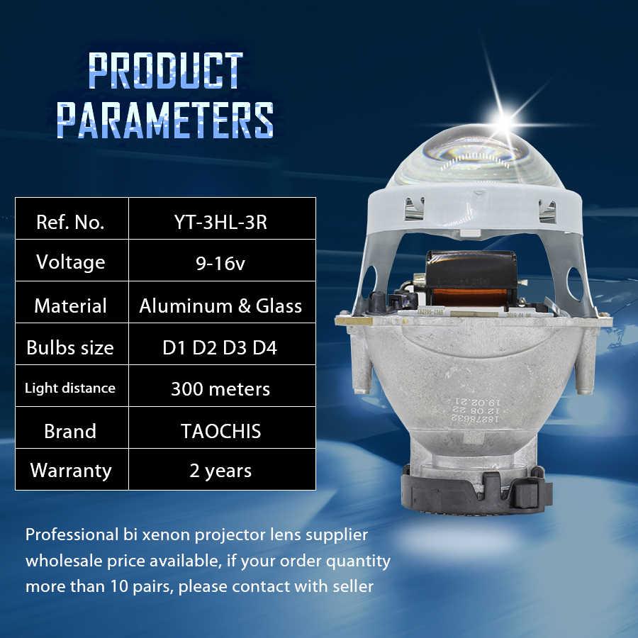 TAOCHIS-phare de voiture 4 pièces   3.0 pouces, bi-xénon Hella 3R G5, lentille de projecteur, style de voiture, modification de la tête, 2 pièces D2s