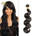 Ali produtos de cabelo rainha onda do corpo brasileiro 1 pacote 7A brasileira onda do corpo do cabelo virgem emaranhado cabelo grátis humano weave feixes