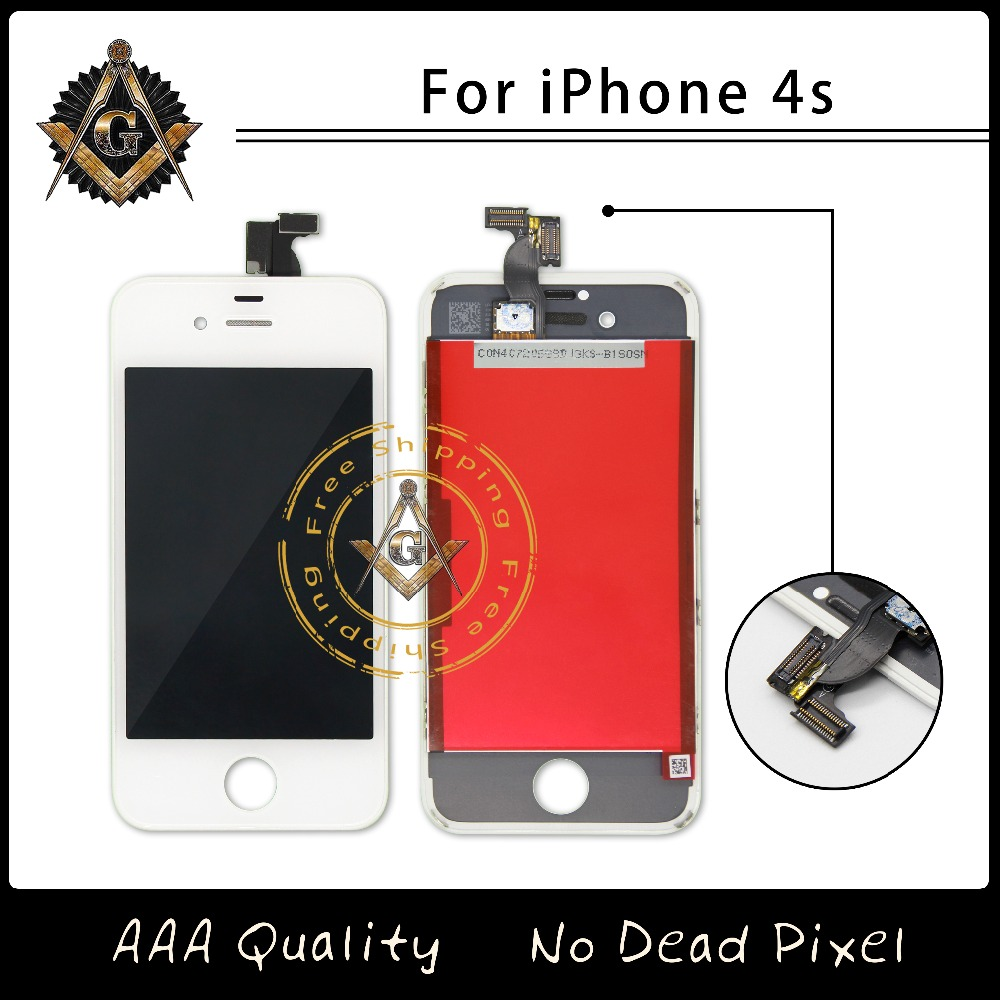 Prix pour Top Qualité 100% Pas de Dead Pixel LCD Assemblée Pour iPhone 4 AAA Qualité Livraison Gratuite DHL