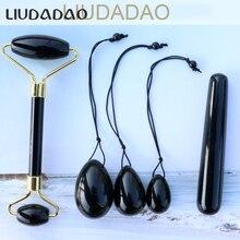 Black Obsidian Yoni Eggs Massager For Women Kegel Exercise Body Relaxing Tools S