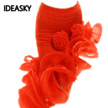 Юбка для латинских танцев для девочек; распродажа; цвет красный, оранжевый, Леопардовый; ча-ча/Румба/Самба/Танго; платья для занятий танцами; Одежда для танцев