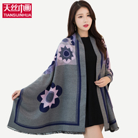 2016 Autumn Winter Style Graffiti Imitation Cashmere Scarves Scarf Fashion Women Soft Printing All Match Cotton