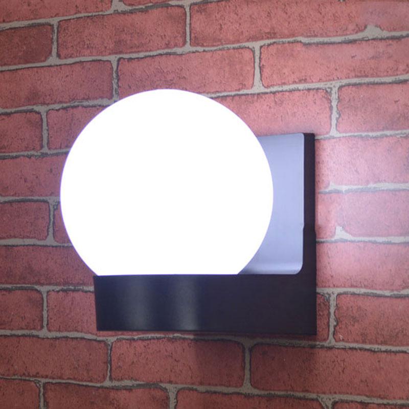 Modern ball outdoor wall lamp garden glass balcony aisle step lights corridor street garden fence park  lighting buitenlamp