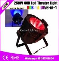 2 шт./лот COB 250 Вт rgbwauv 6 в 1 LED PAR поверхностное освещение для театрального ТВ сценического студии