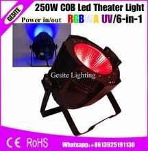 2 шт./лот удара 250 Вт rgbwauv 6 в 1 LED PAR поверхность Освещение для Театр ТВ этап студия