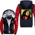 Very Popular Style Hoodies Men Print Bob Marley Jacket Clothing Winter Thicken Fleece Zipper Tops Hip Hop Fashion