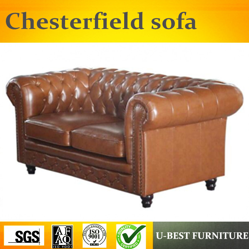 Leather Upholstered Lazy Chesterfield