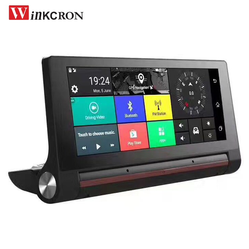 Car GPS Navigation 3G Dash Cam 7.0 inch IPS Rearview Mirror FHD 1080P Video Recorder 1G ROM DDR16GB Wifi Bluetooth Free map
