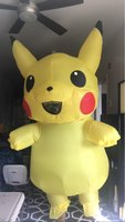 Yellow Inflatable Pikachu Costume Pokemon Costumes Anime Cosplay Party Dress Halloween Costumes for Men Adult