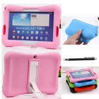Kid Safe Kickstand Soft Rubber Cover For Samsung Galaxy Tab 3 10 1 P5200 4 7
