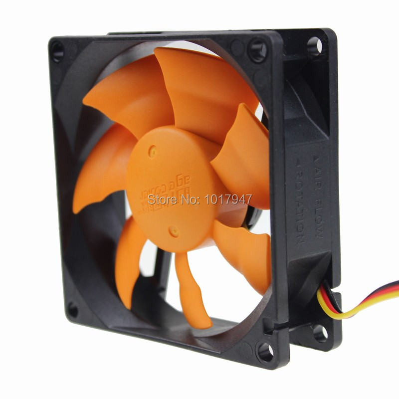 2Pieces lot PC Computer Case Cooling Fan Cooler 3Pin 4Pin Silent Low noise 80mm 80x80x25mm new 3u ultra short computer case 380mm large panel big power supply ultra short 3u computer case server computer case