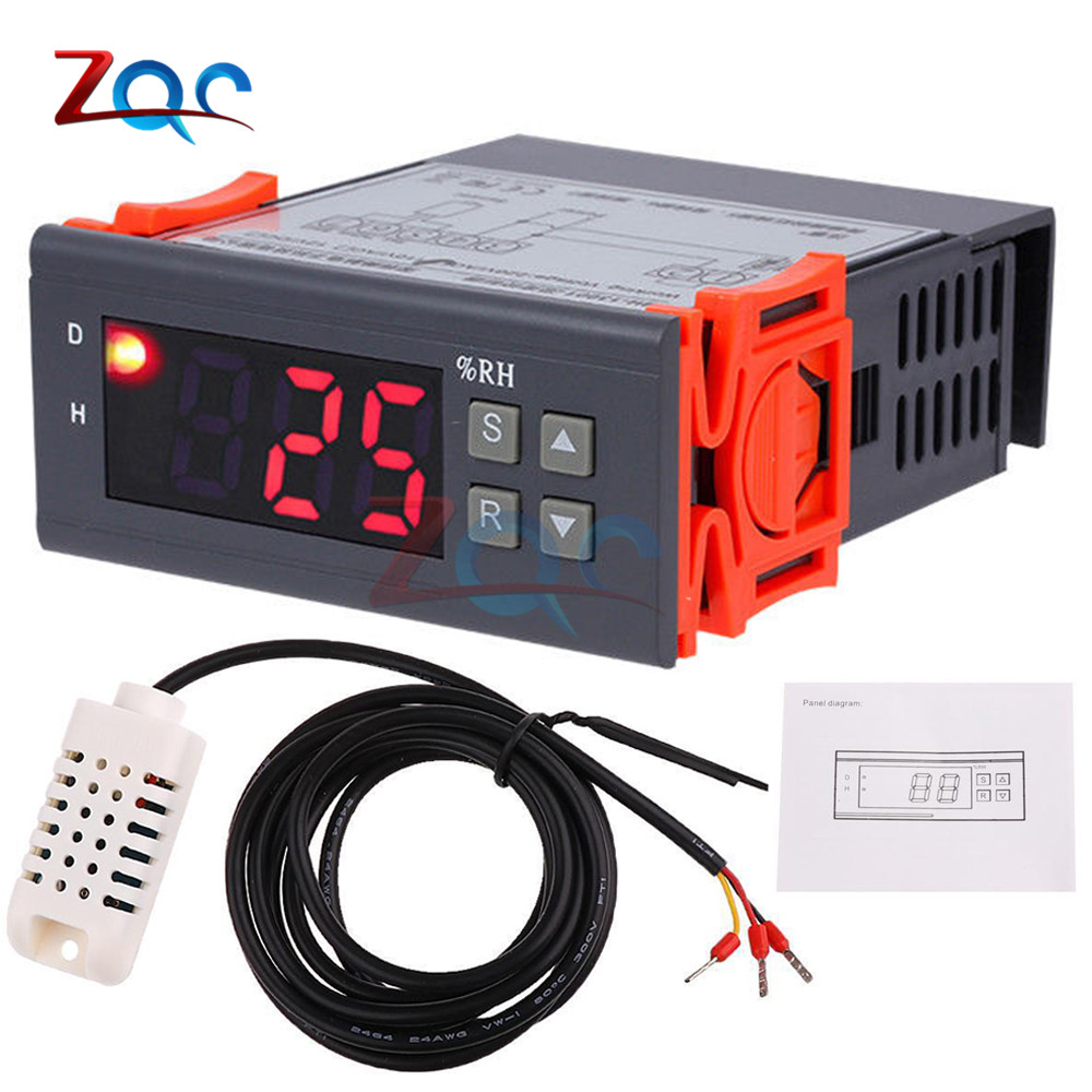 Mh 13001 Ac 110v 220v Dc 12v Lcd Digital Thermostat Hygrometer English Electric Relay Manuals Led Display Home Automation Delay Trigger Time Circuit Timer Control Cycle Adjustable