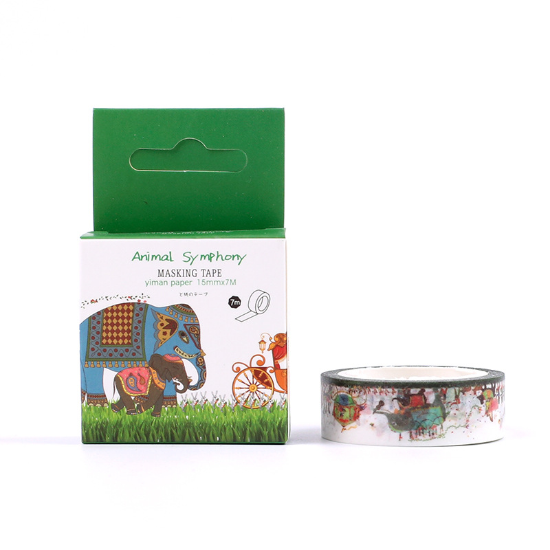 Forest concerto adhesiva masking washi tape tape for Tape works decorative tape