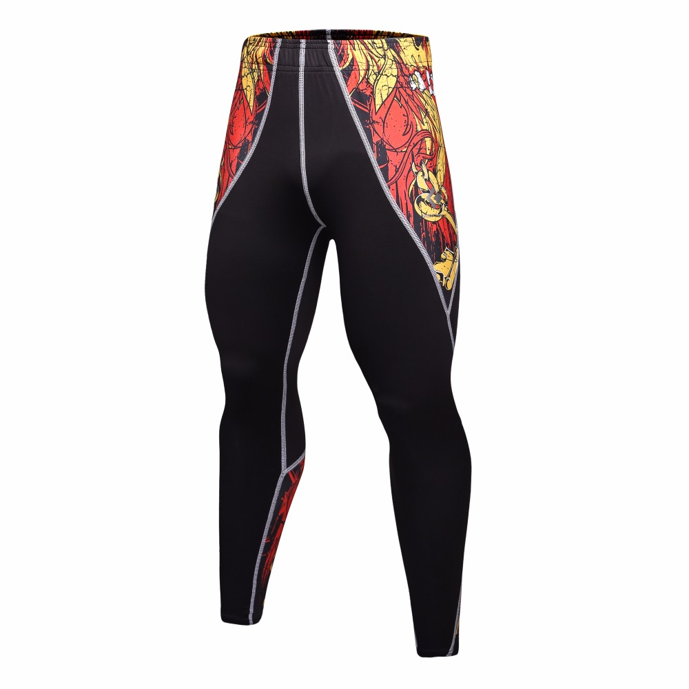 2017 new Compression Pants Quick Dry Plus Men Bodybuilding Skinny Leggings Workout Fitness Trousers Brand Clothing Free shipping