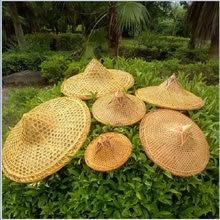 Соломенная шляпа с бамбуковым покрытием для защиты от дождя