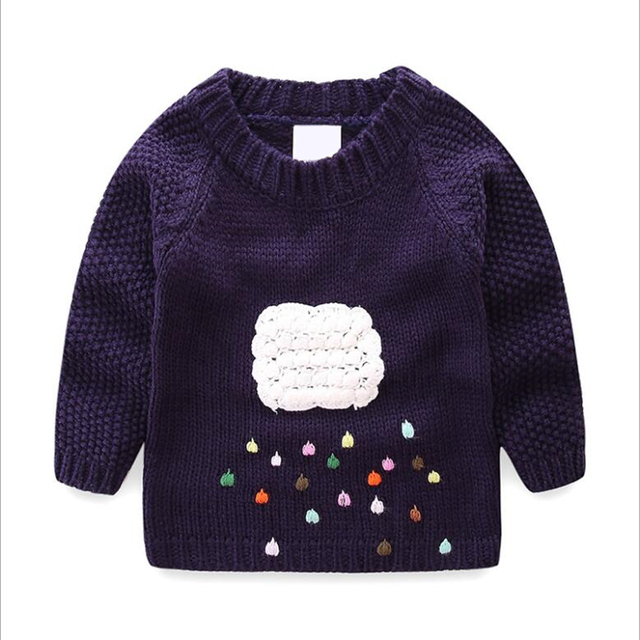 e35cf548a 2 years Baby Girls Knitting Sweater for Boys Colorful Cloud Clothes ...