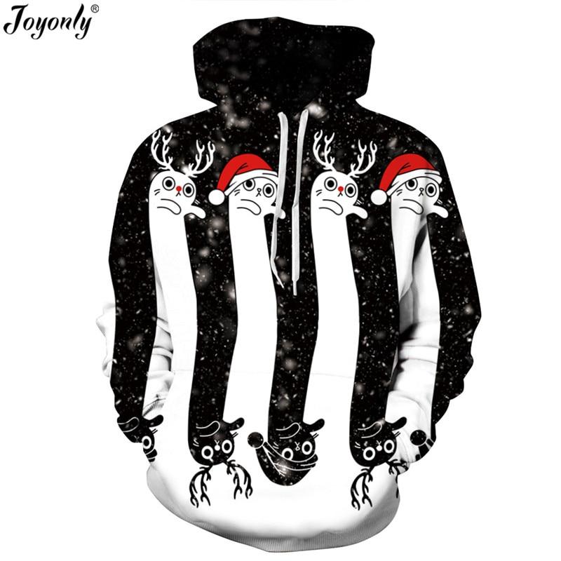 Joyonly 2018 Women/Men 3D Print Christmas Halloween Skull Theme Pullover Hoodies Femme Causal Loose Thin Sweatshirt Hooded Tops