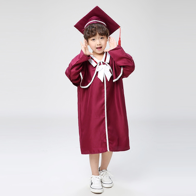 8eba61f65d7 Children s performance clothing Academic dress gown Kindergarten Chorus  clothes Dr. cloth graduated Bachelor suits Dr. cap-in School Uniforms from  Novelty ...