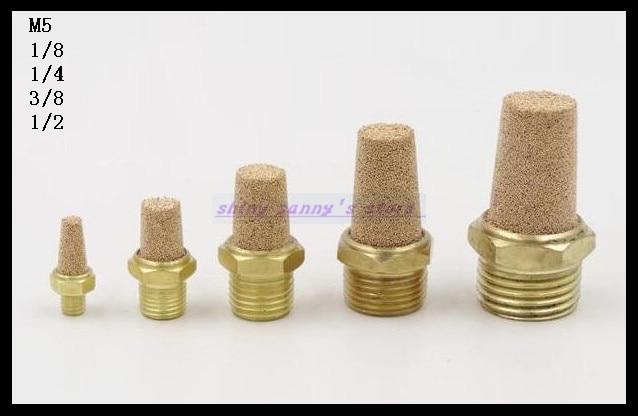 10Pcs/Lot  3/8 BSPT Pneumatic Filter Silencer Sintered Bronze 10Pcs/Lot  3/8 BSPT Pneumatic Filter Silencer Sintered Bronze