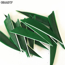 50Pcs 3inch Vane Arrow Feather Bow and Arrow Green Wood Fiberglass Carbon Arrow Shooting Outdoor Accessories green arrow deluxe edition