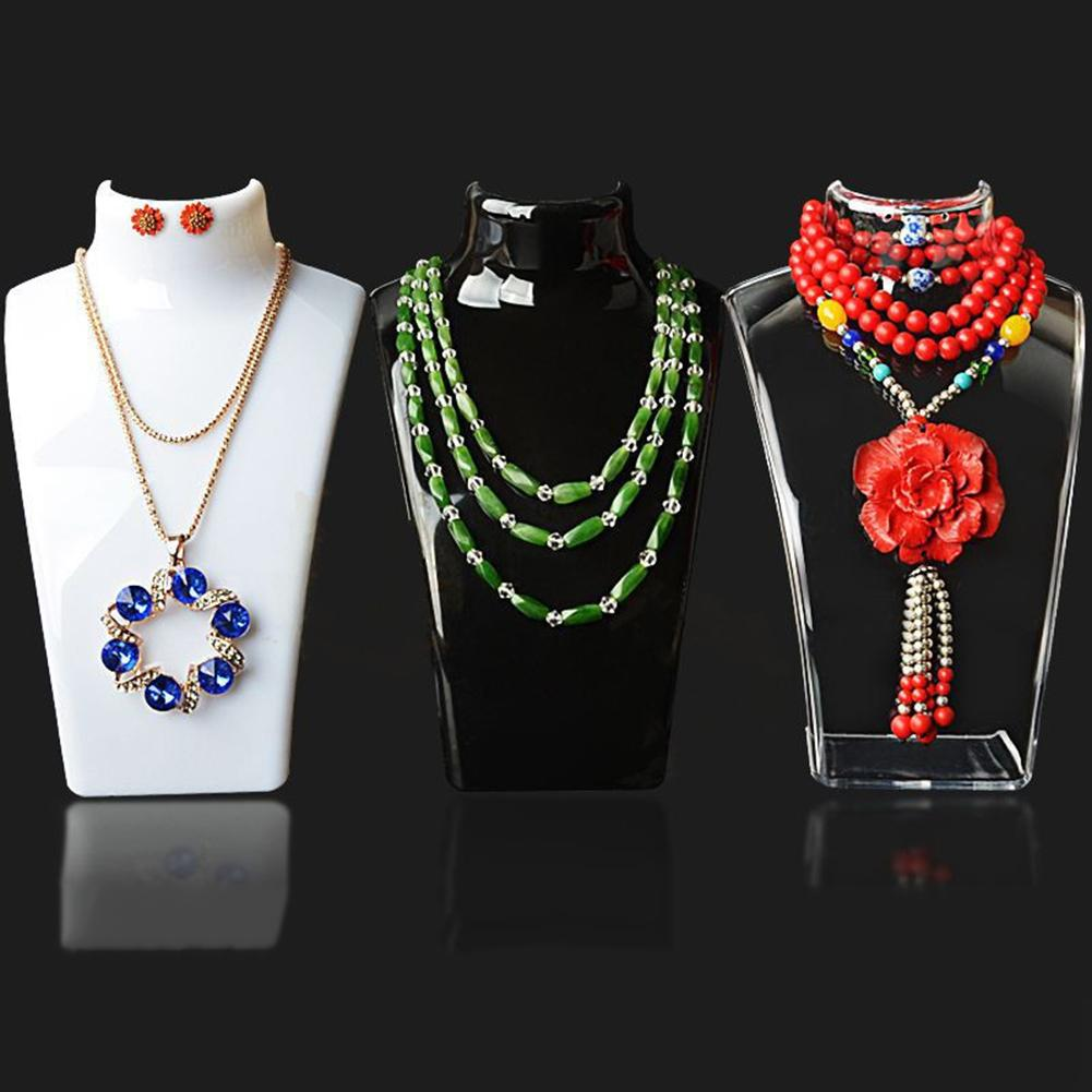 Mannequin Necklace Jewelry Pendant Display Stand Holder Neck Model Show Shelf Decorative Shelves
