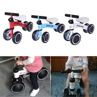 Children Three Wheeler Balance Bike Kids Scooter Baby Walker Tricycle Bike Ride On Toy Gift For