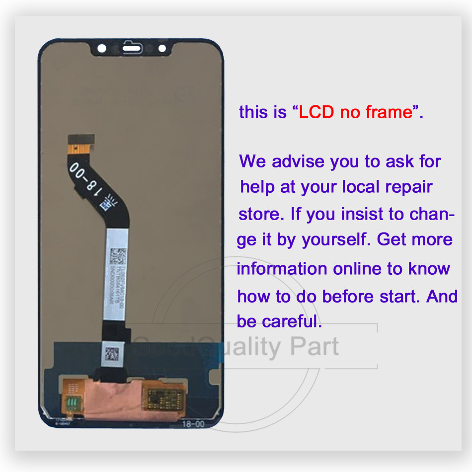 Image 2 - New for Xiaomi mi Pocophone F1 LCD Display +Touch Screen Panel For Xiaomi Poco F1 India LCD Digitizer Replacement Repair Parts-in Mobile Phone LCD Screens from Cellphones & Telecommunications