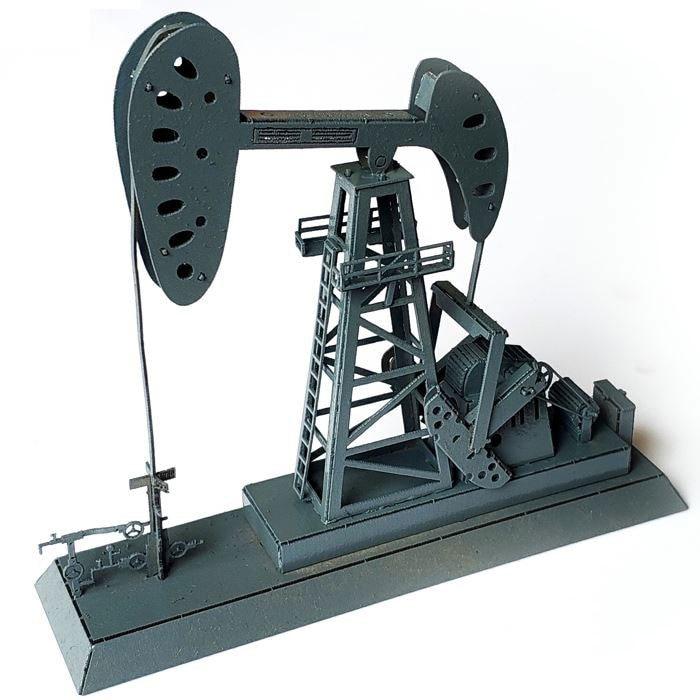US $18 0 |DIY Train Model Building Scene Model Building Kits Sand Table  Railway Drilling Oil Well Model Train Ho Scale-in Model Building Kits from