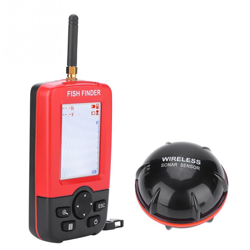 Portable 40M Depth Fish Finder with 100M Wireless Sonar Sensor Echo Sounder Fishfinder for Lake Sea Fishing Saltwater-in Fish Finders from Sports & Entertainment    1