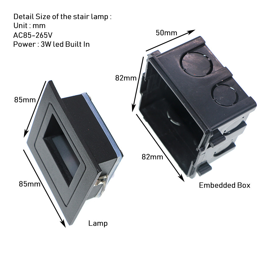 3W geleid trap licht met ingesloten box Aluminium Step Lights buiten - Buitenverlichting - Foto 6