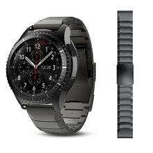 Из Металла Нержавеющаясталь часы наручные ремешок для samsung Шестерни S3 классический Frontier huawei Watch 2 Pro ремешки быстрой установке