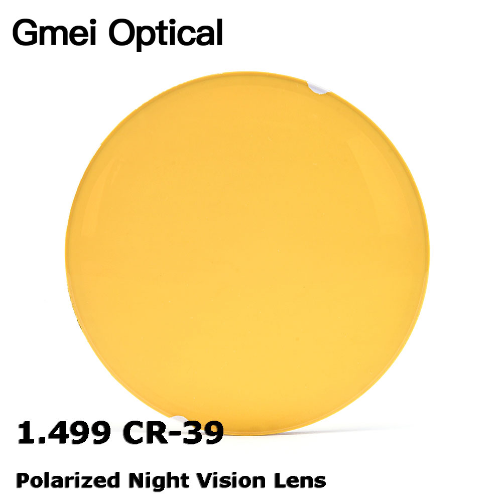 Gmei 1.499 CR-39 Polarized Night Vision Myopia Lenses Prescription Polarizing Driving Glasses Lens Anti-Glare High Definition