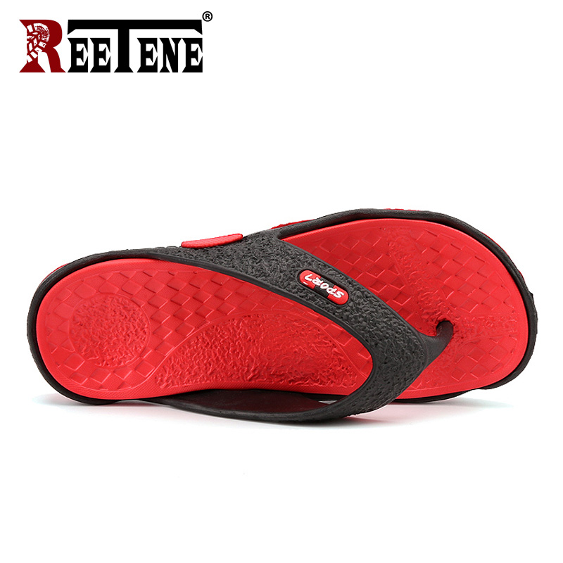 REETENE High Quality Men's Shoes For Male Slippers Plus Size 39-45 Fashion Summer Men Flip Flops Outdoor Soft Casual Shoes Men 1