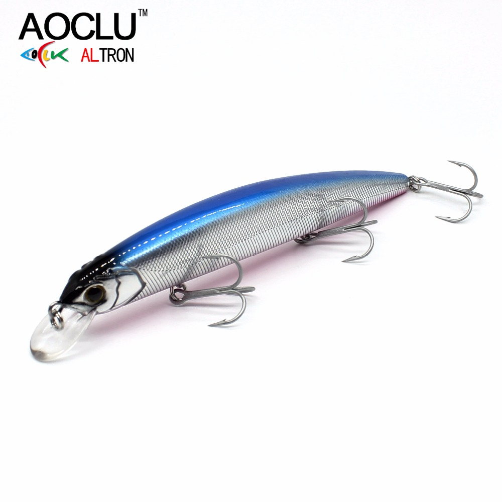 AOCLU Jerkbait wobblers 7 Colors 13cm 20.0g Hard Bait Minnow Crank Fishing lures Bass Fresh Salt water 4# VMC hooks цена