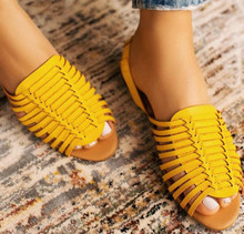 New Weaving Women Sandals Summer Fish Mouth Rome Flat Sandals Ladies Shallow Hollow Slip On Casual Shoes Woman Shoes Dropship цены онлайн