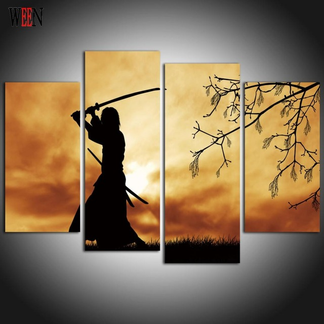 Aliexpress Com Buy Samurai Canvas Arts For Living Room Modern