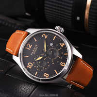P arnis Miyota 8219กลอัตโนมัติ44มิลลิเมตรผู้ชายนาฬิกาข้อมือตลอดขนาดเล็กสองแบบ