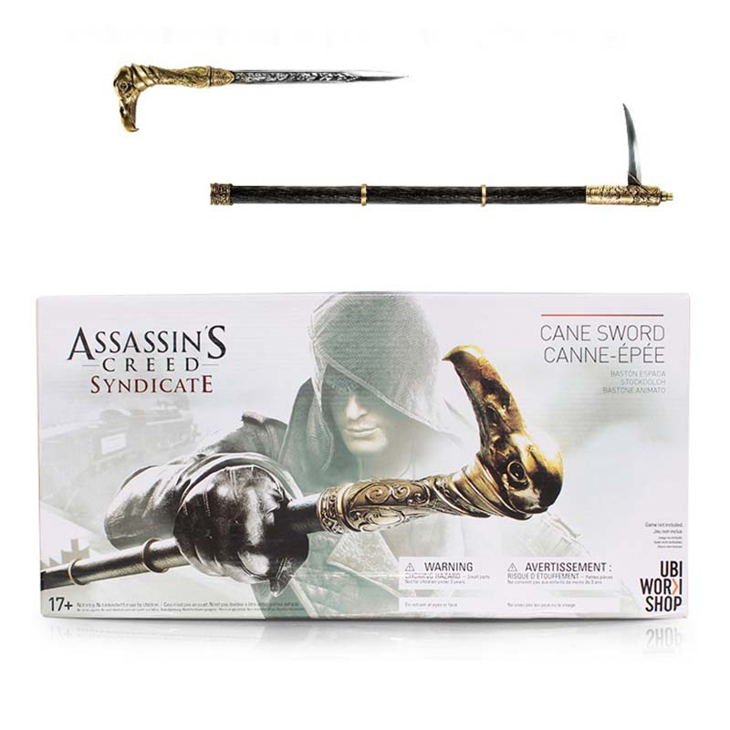Assassin's Creed Action Figures Weapon Syndicate Cane Sword Anime Game Assassin Creed Model Toys Syndicate Cane Sword assassins creed connor action figure iii game toys assassin creed 260mm pvc anime collectible action figures assassin creed toy