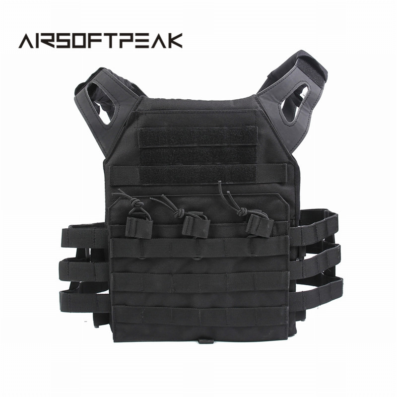 JPC Tactical Vest Simplified Version Military Wargame Chest Rig Molle Plate Carrier Hunting Vest Outdoor Uniform Combat Gear emerson 1000d molle jpc airsoft tactical vest simplified version outdoor training paintball hunting vest plate carrier em7344