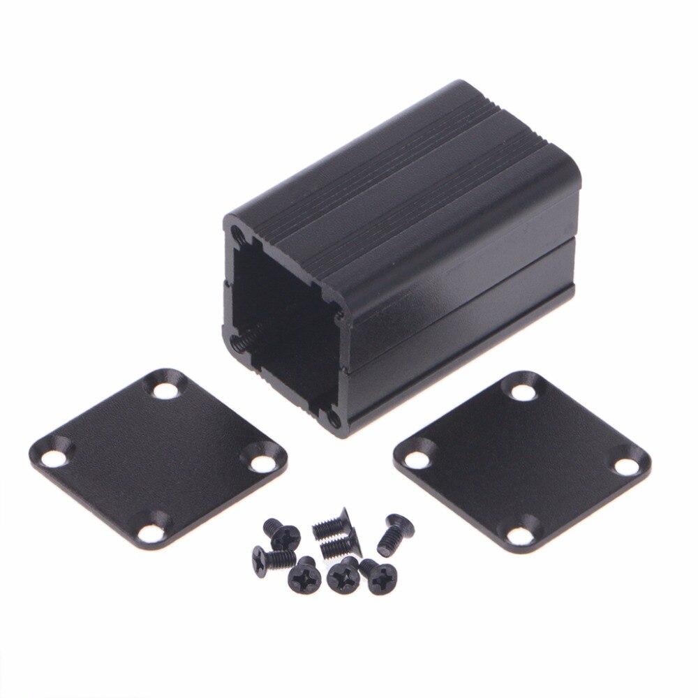 100*25*25mm Extruded PCB Aluminum Box Black Enclosure Electronic Project Case