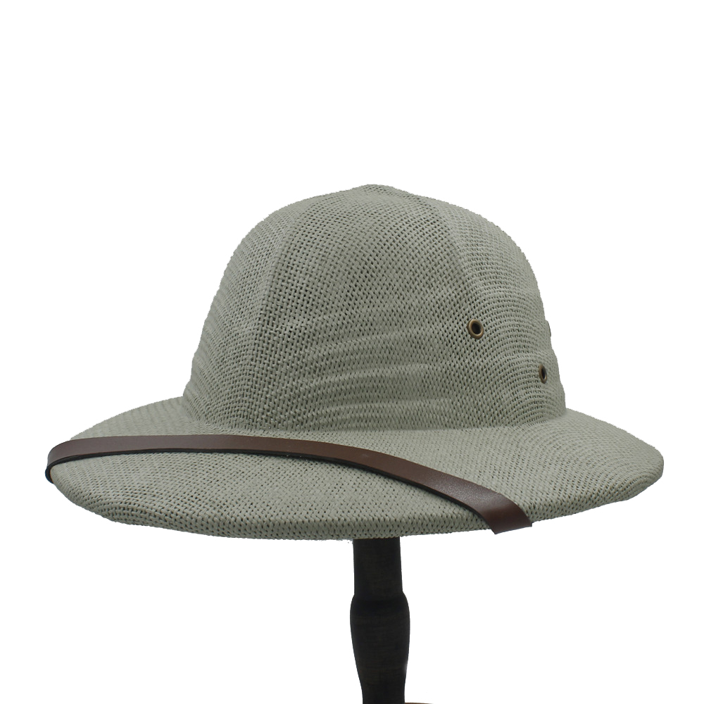 100% Stroh Helm Mark Eimer Hüte Für Frauen Männer Fedora Vietnam Krieg Armee Sonnenhut Dad Boater Hüte Safari Dschungel Berg Kappe