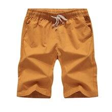 Shorts Mens Hot Beach High Quality Summer Elastic Waist Fashion Brand Size S-5XL Casual Slim Cotton