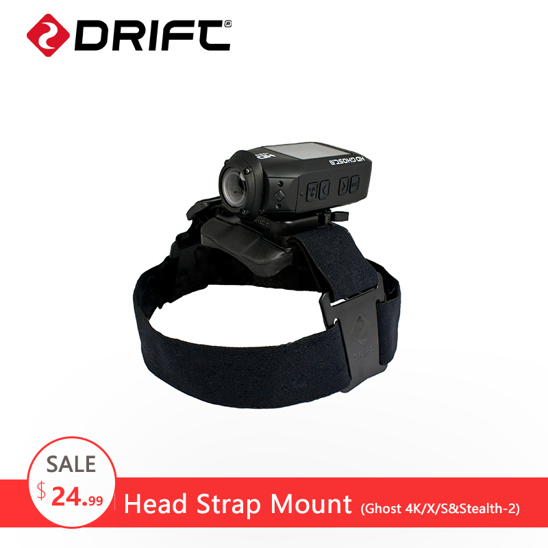 Original Drift Head Strap Mount for Ghost-4K/S Stealth-2 gopro xiaomi yi 4k Action Camera SJCAM eken Sport Camera Accessories
