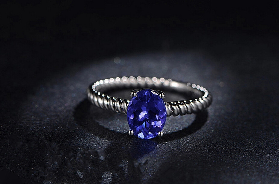 3 carat pure 925 silver ring sapphire jewelry tanzanite man made diamond ring twist grain ring arm design US size from 4.5 to 9