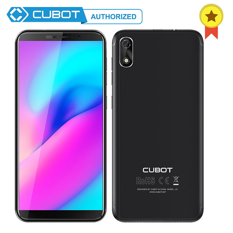 Original Cubot J3 18 9 5 0 Display Android Go Face ID MT6580 Quad Core 1GB