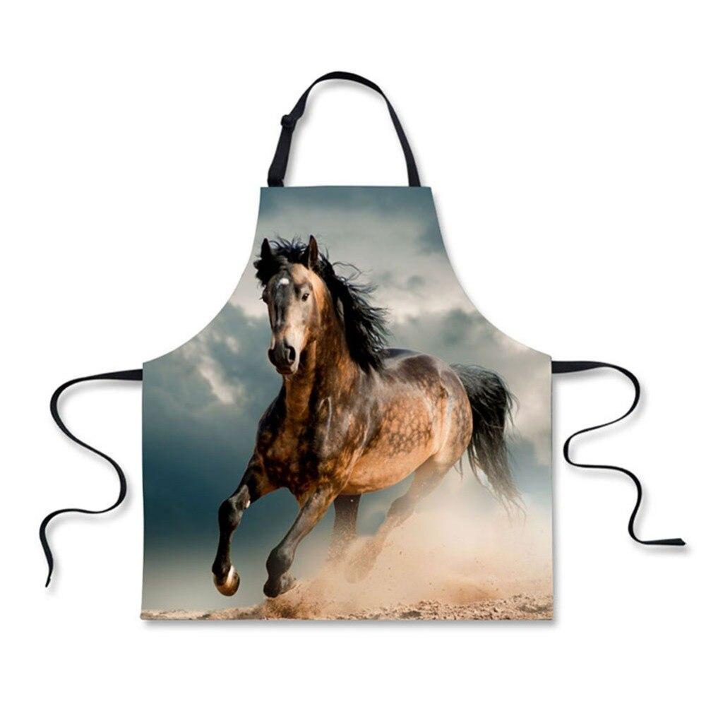 Actief Hoge Kwaliteit 3d Printing Paard Patroon Thuis Leisure Mode Keuken Benodigdheden Schorten