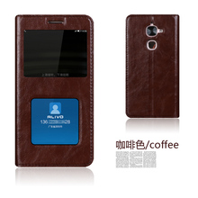 Genuine Leather Smart Window Flip Stand Cover Case For Letv LeEco Le2 Le 2 / Le 2 Pro X527 X620 X520 X526 Mobile Phone Bag