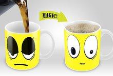 Zakka Lustige Cartoon Farbwechsel Wake Up Tasse Keramik Kaffeetasse Kalt/Heißer Temperatur Wärmeempfindlichen Becher Knochen China Geschenke