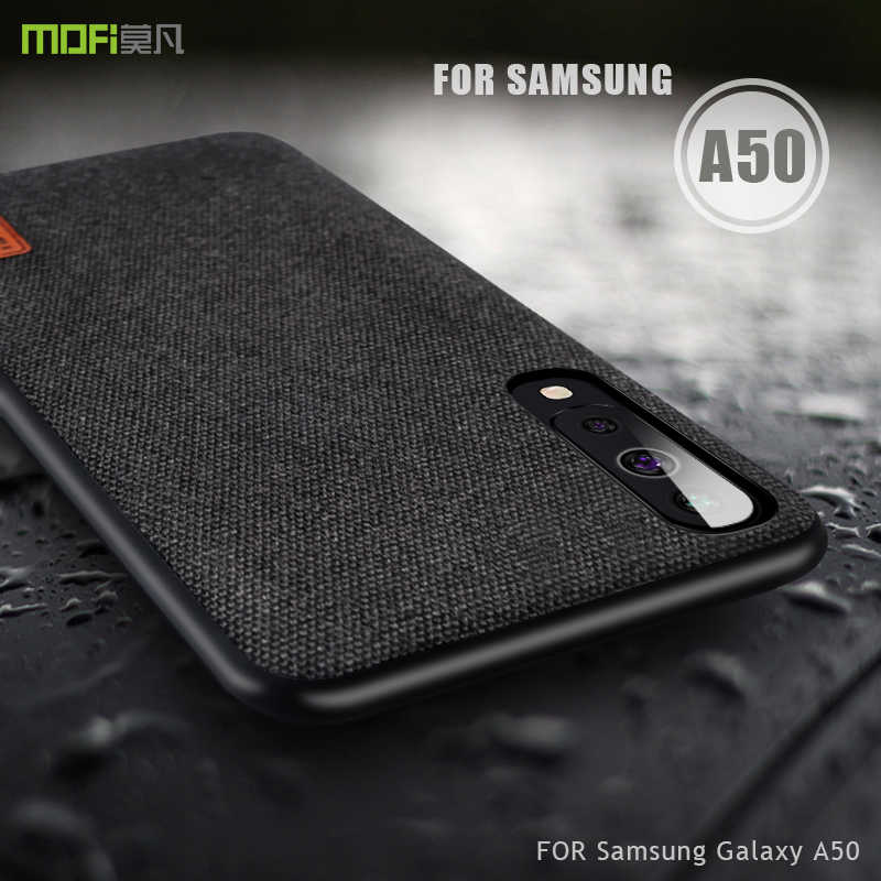 For Samsung Galaxy A50 case cover MOFI for Samsung Galaxy A30 A70 fabric Back Case for Samsung A50 Full Cover business Case