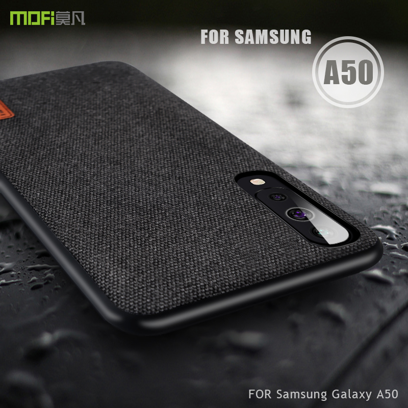 Para Samsung Galaxy tampa do caso MOFI para Samsung Galaxy A30 A50 A70 tecido de Volta Caso para Samsung A50 Cobertura Completa business Case